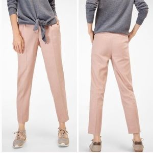 NWT Massimo Dutti Textured Trousers Rose 4